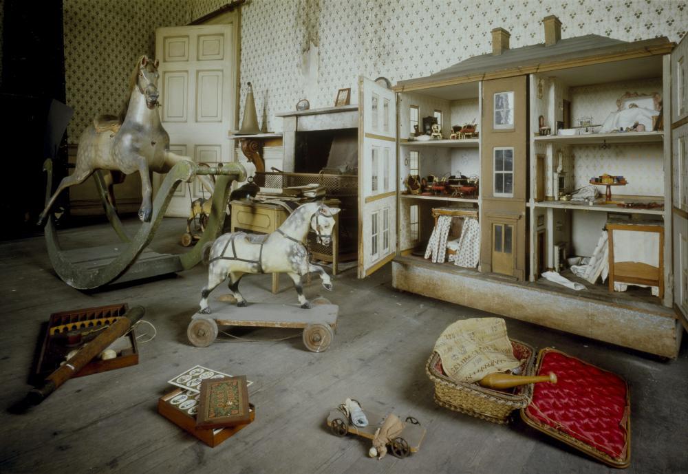 The schoolroom at Calke Abbey.