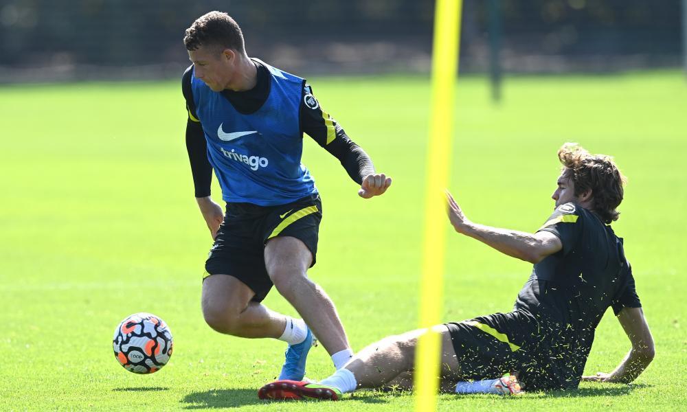 Ross Barkley training with Chelsea