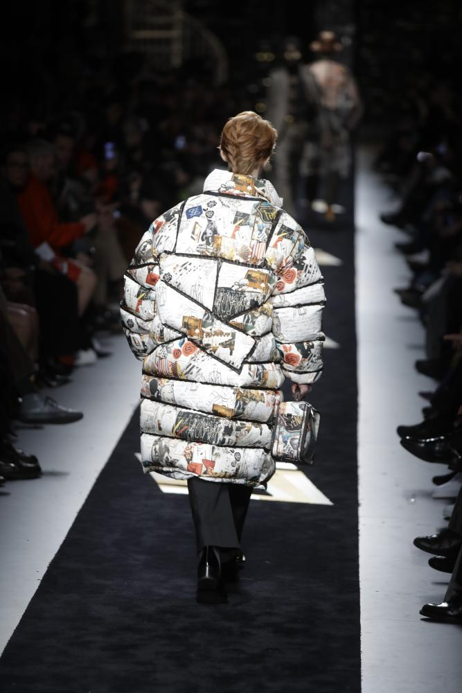 Patchwork puffers by Fendi.