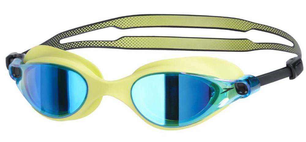 Clear vision: Speedo's Unisex Vue Mirror goggles in lime and blue
