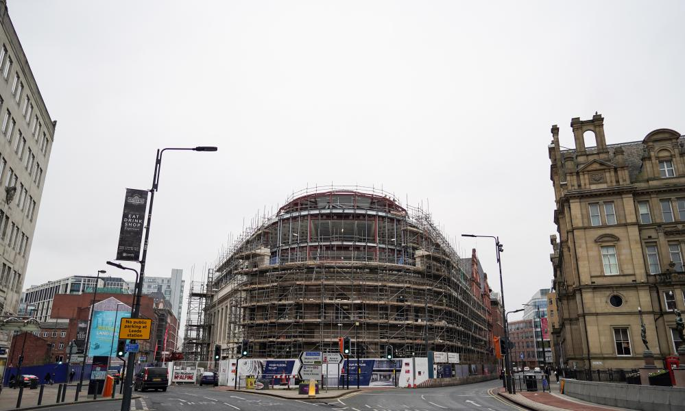 Construction work at the former Majestyk nightclub building, the site of Channel 4's new Leeds office.