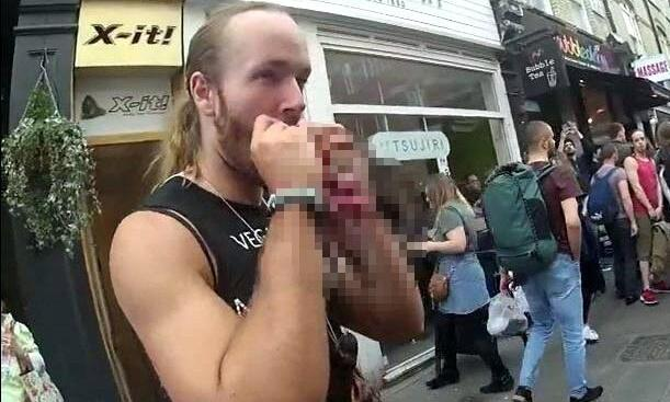Pro-meat protesters fined for eating raw squirrels at vegan stall