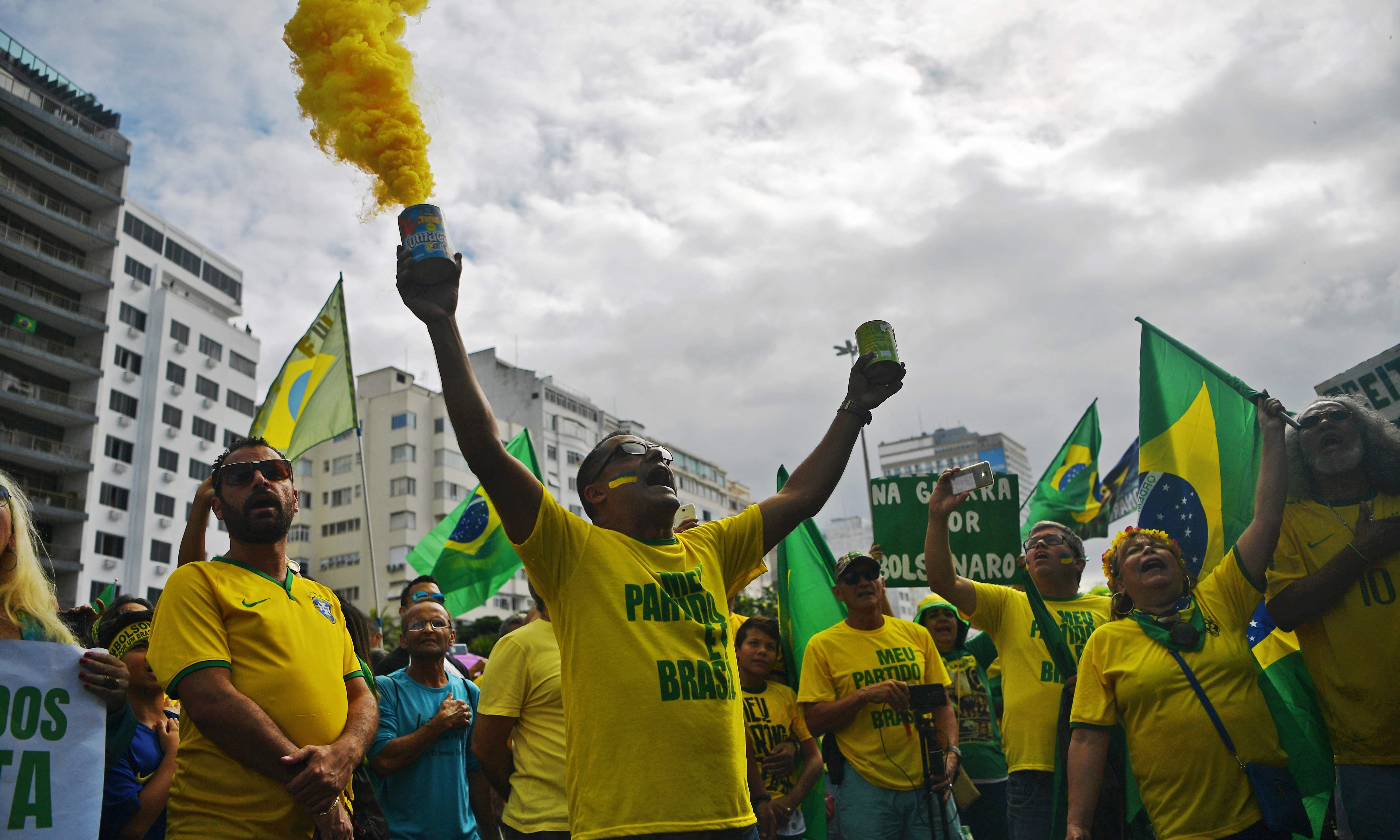 Bolsonaro supporters take to Brazil's streets as approval ratings drop