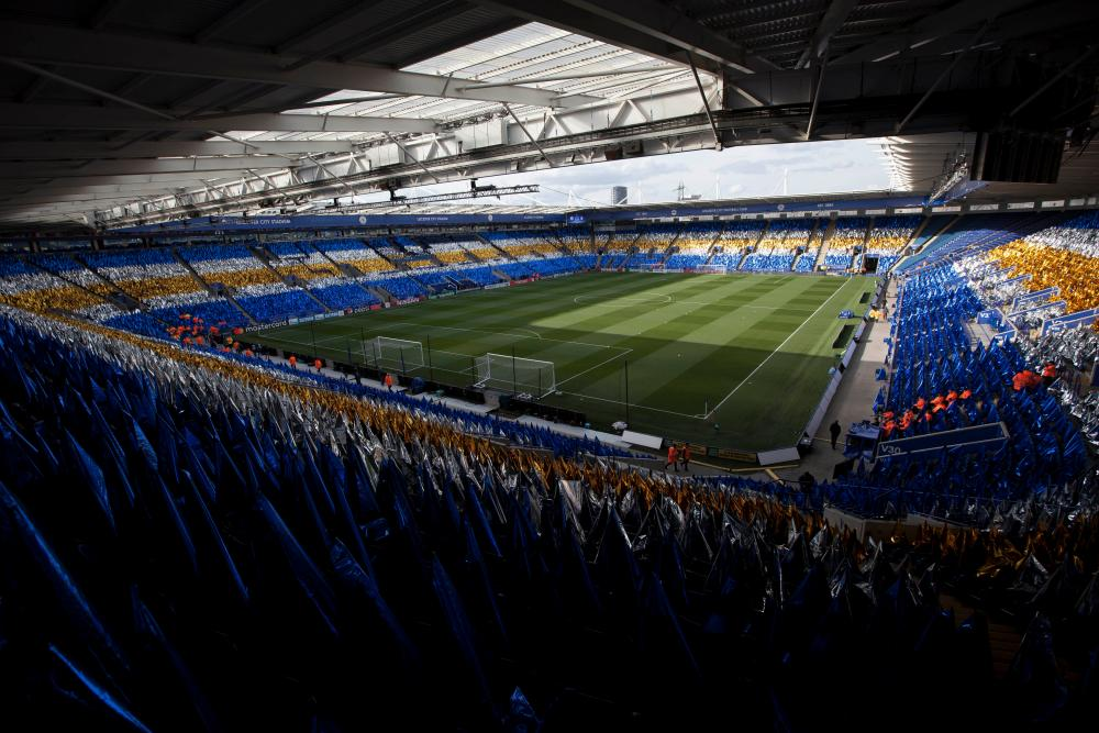 The scene is set at The King Power Stadium.
