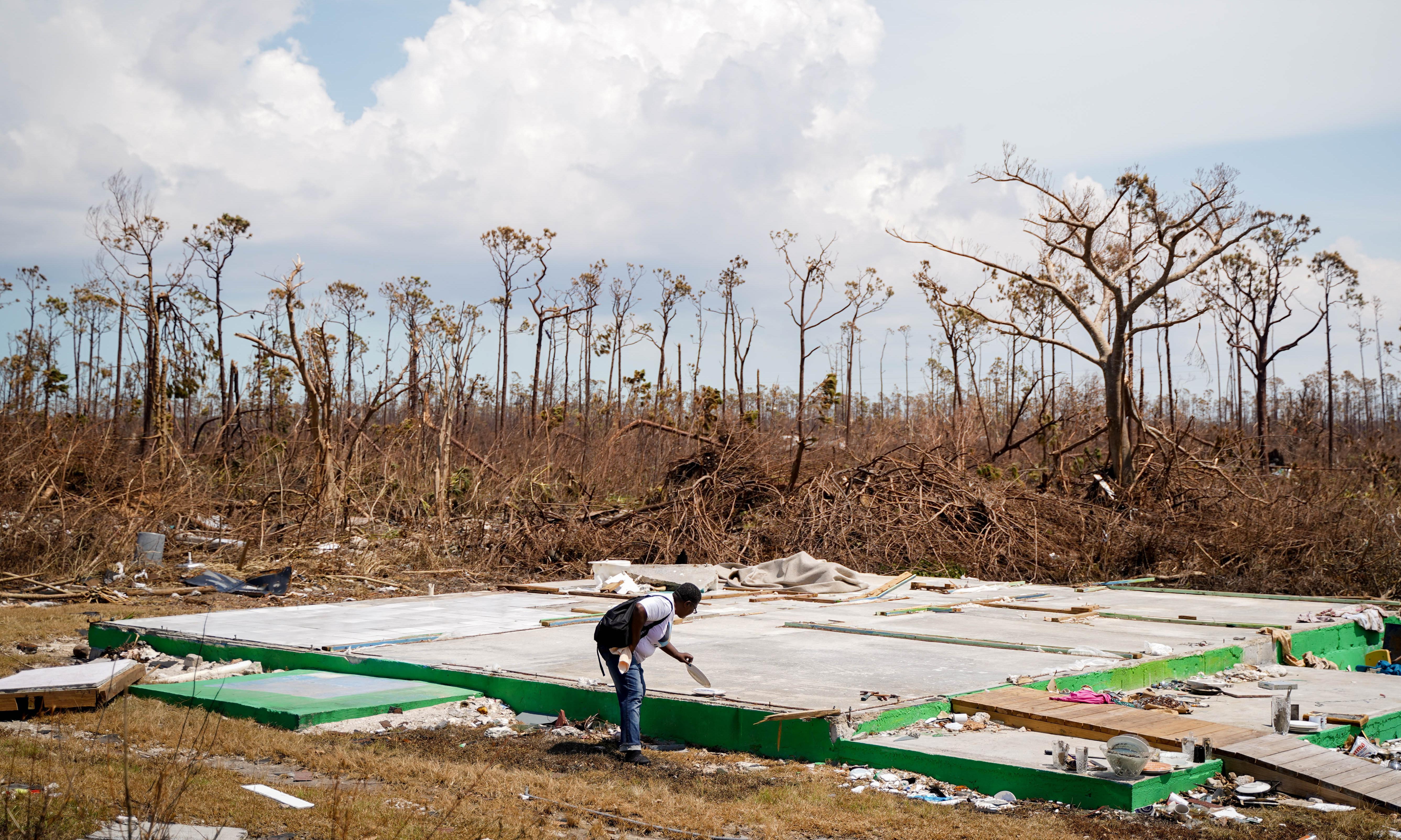 The town turned to rubble by Hurricane Dorian – in pictures
