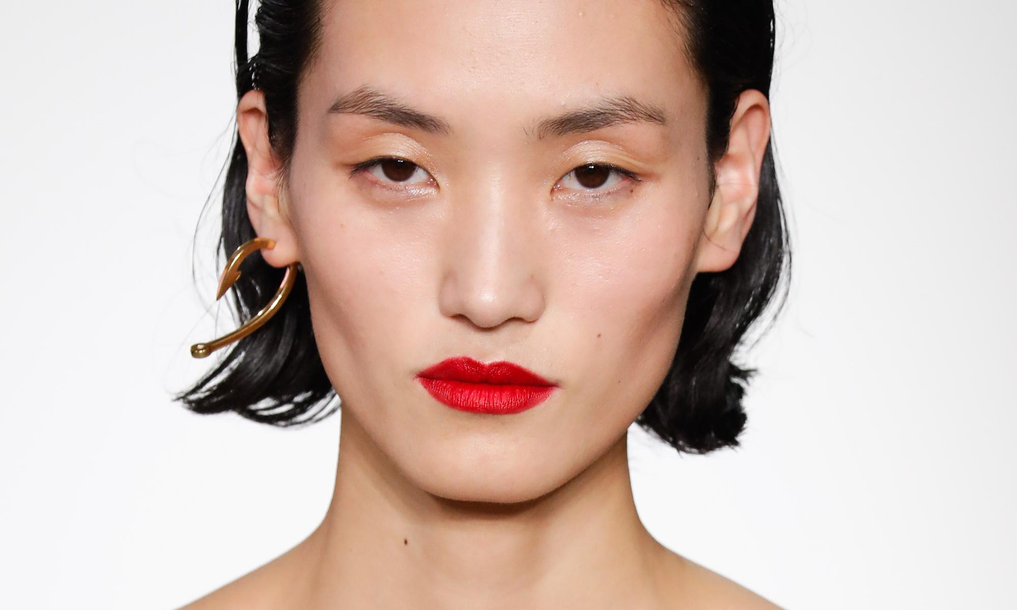 Contemporary red lips for the party season
