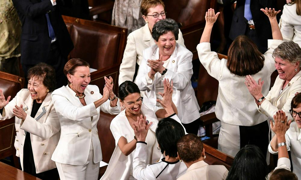 Lawmakers react to US President Donald Trump's acknowledgement of an increased presence of women in the workforce and on Capitol Hill during his State of the Union address.