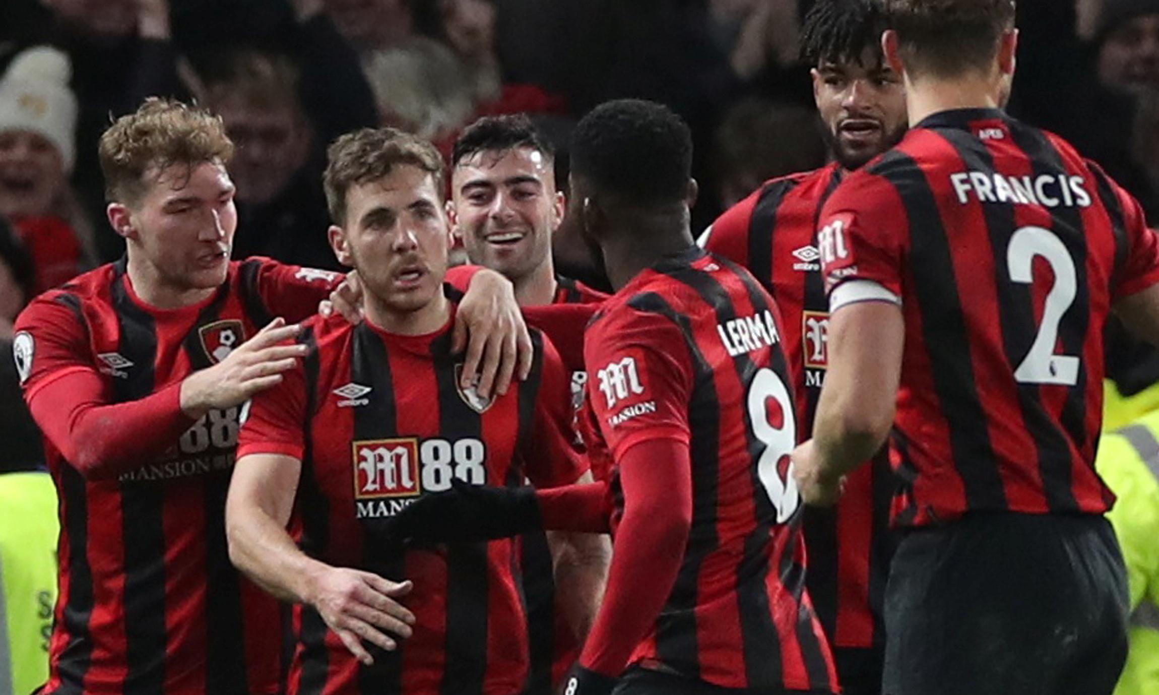 Dan Gosling's late winner for Bournemouth leaves Chelsea stunned