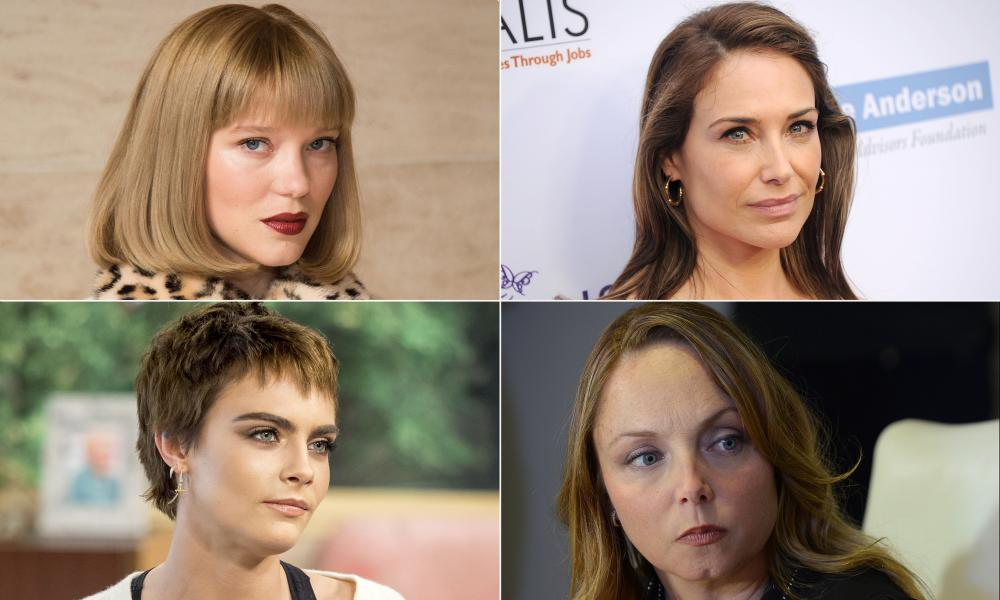 Clockwise from top left: Léa Seydoux, Claire Forlani, Louisette Geiss and Cara Delevingne