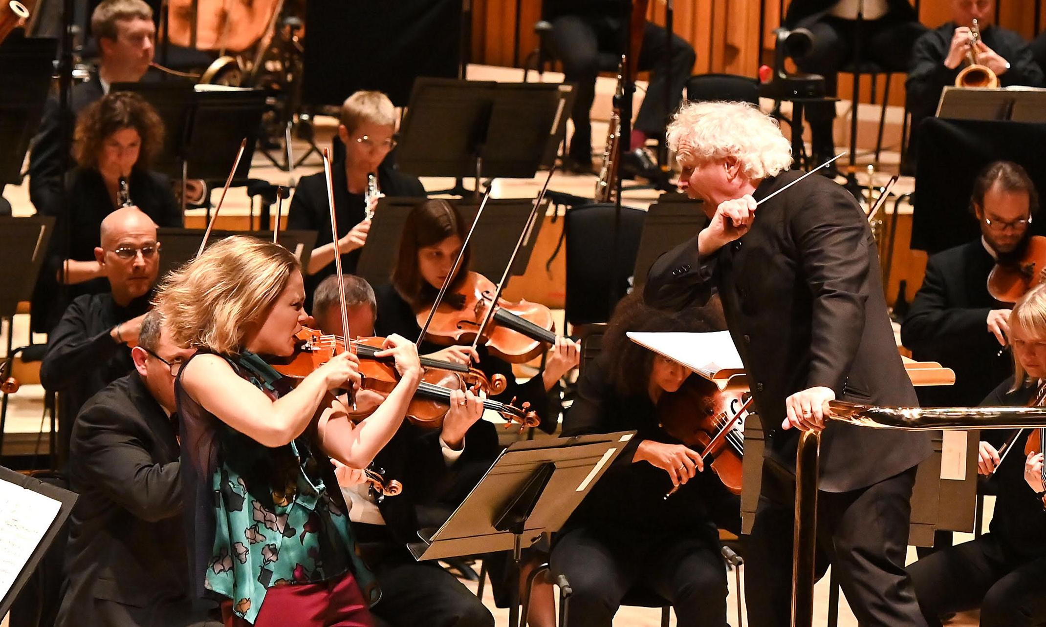 LSO/Rattle review – lyrical Walton and outstanding Leila Josefowicz