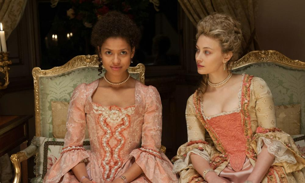 Gugu Mbatha-Raw and Sarah Gadon in  Belle.