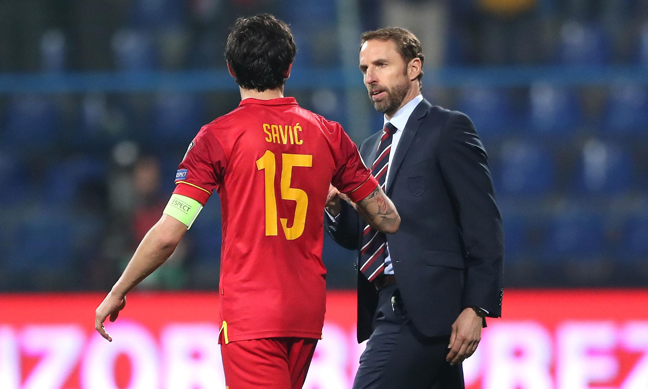 England's Sterling and Southgate call for action on racist abuse in Montenegro
