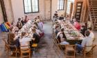 Guests enjoy a well-earned feast at a previous Yoga Brunch Club