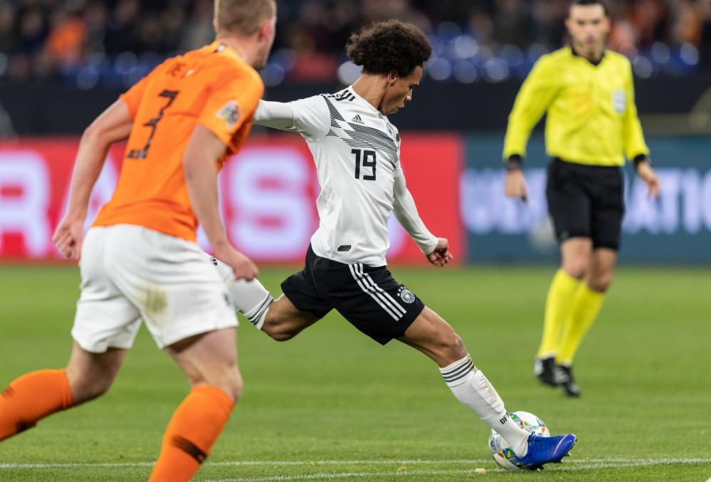 Leroy Sane fires in the second for the hosts.