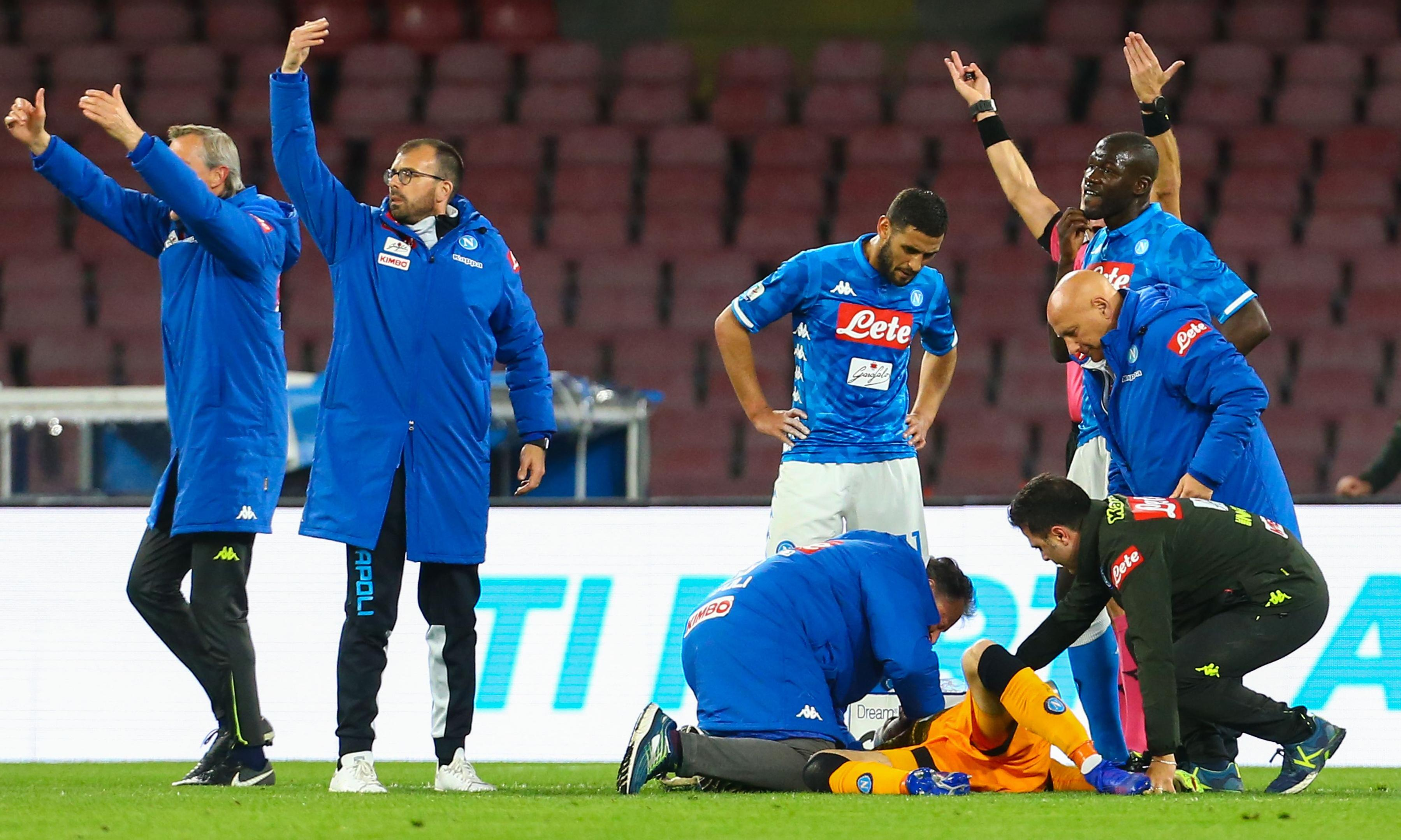 David Ospina discharged from hospital after collapsing during Napoli match