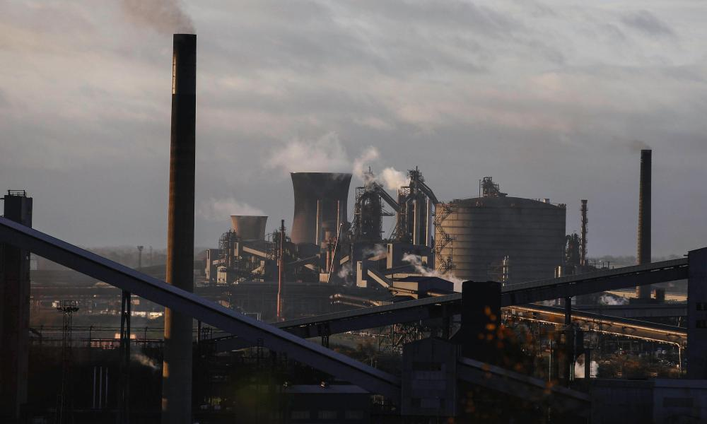 British Steel's Scunthorpe steelworks
