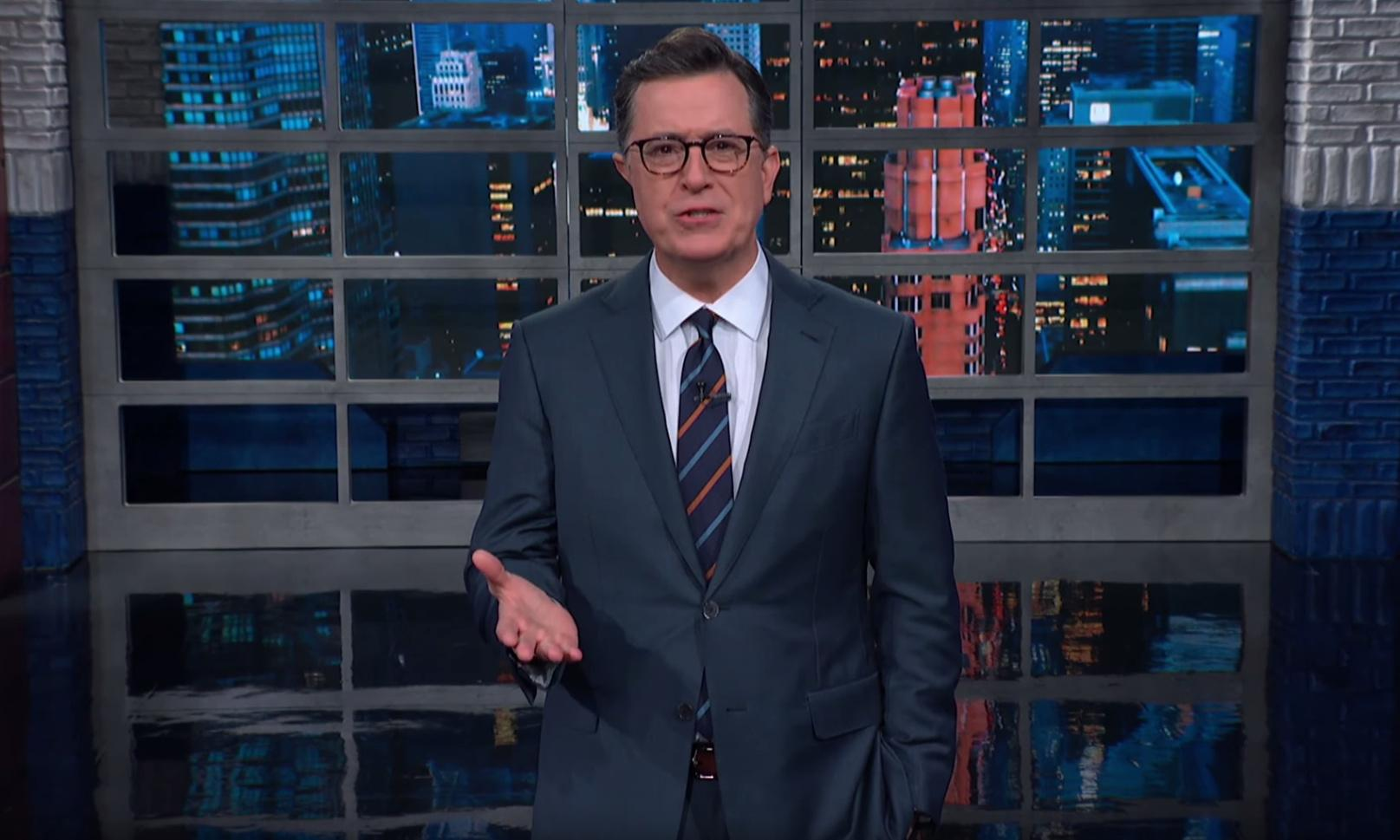 Stephen Colbert: 'Trump's defenders are backed into a corner'