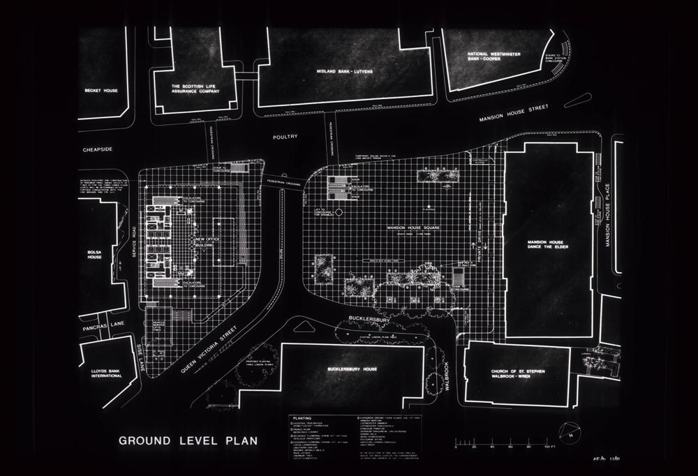Mies van der Rohe's Mansion House Square proposals for the site of No1 Poultry.