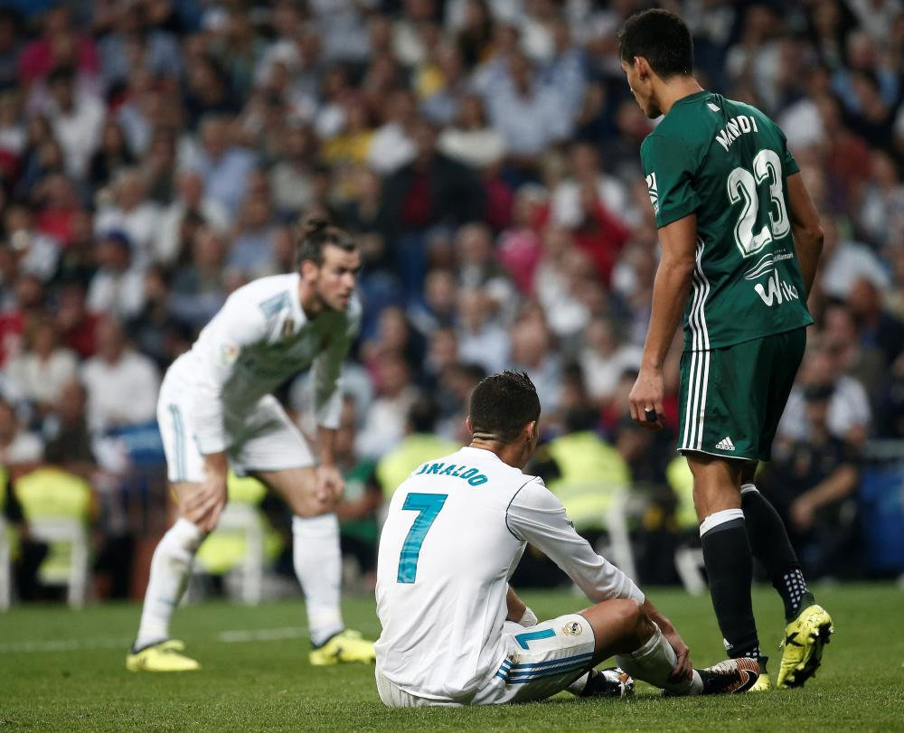 Frustration for Cristiano Ronaldo and Gareth Bale after another missed chance.