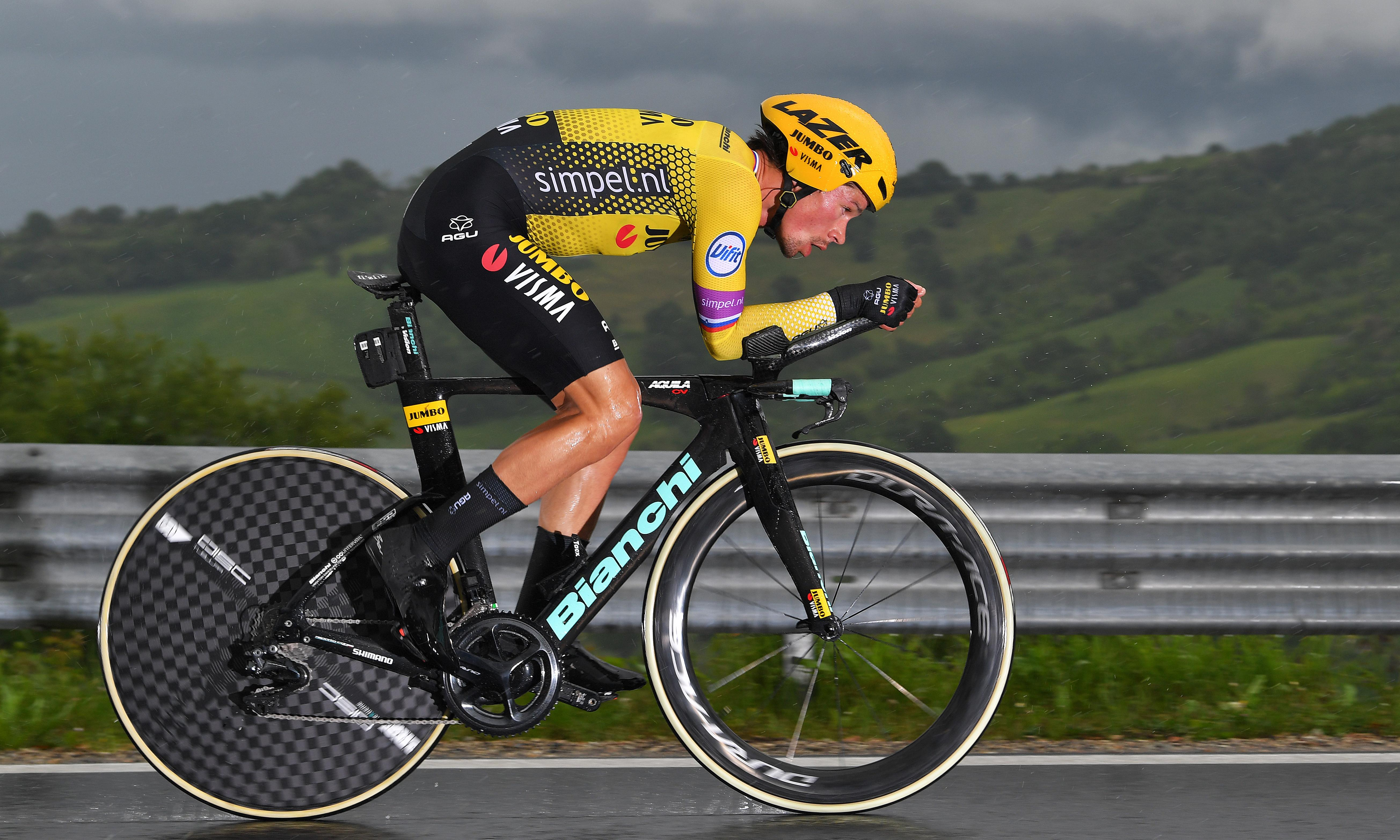 Primoz Roglic strong favourite for Giro after crushing time-trial win