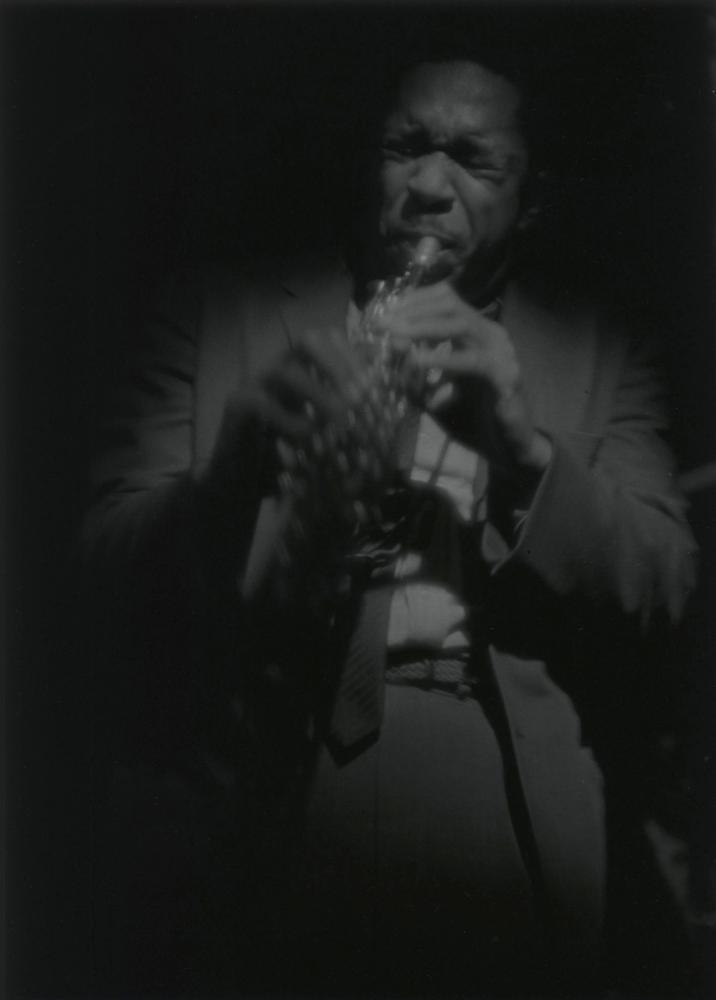 Coltrane on Soprano 1963, by Roy DeCarava.