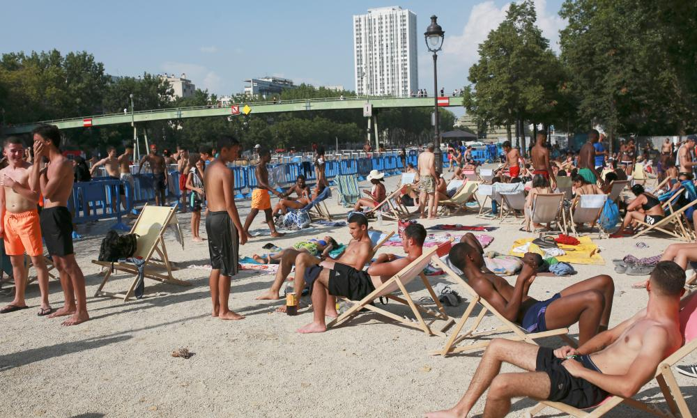 Paris Plages in 2019 when the city saw a record high temperature of 42.6C (108.7F) during a heatwave that broke records across western Europe.
