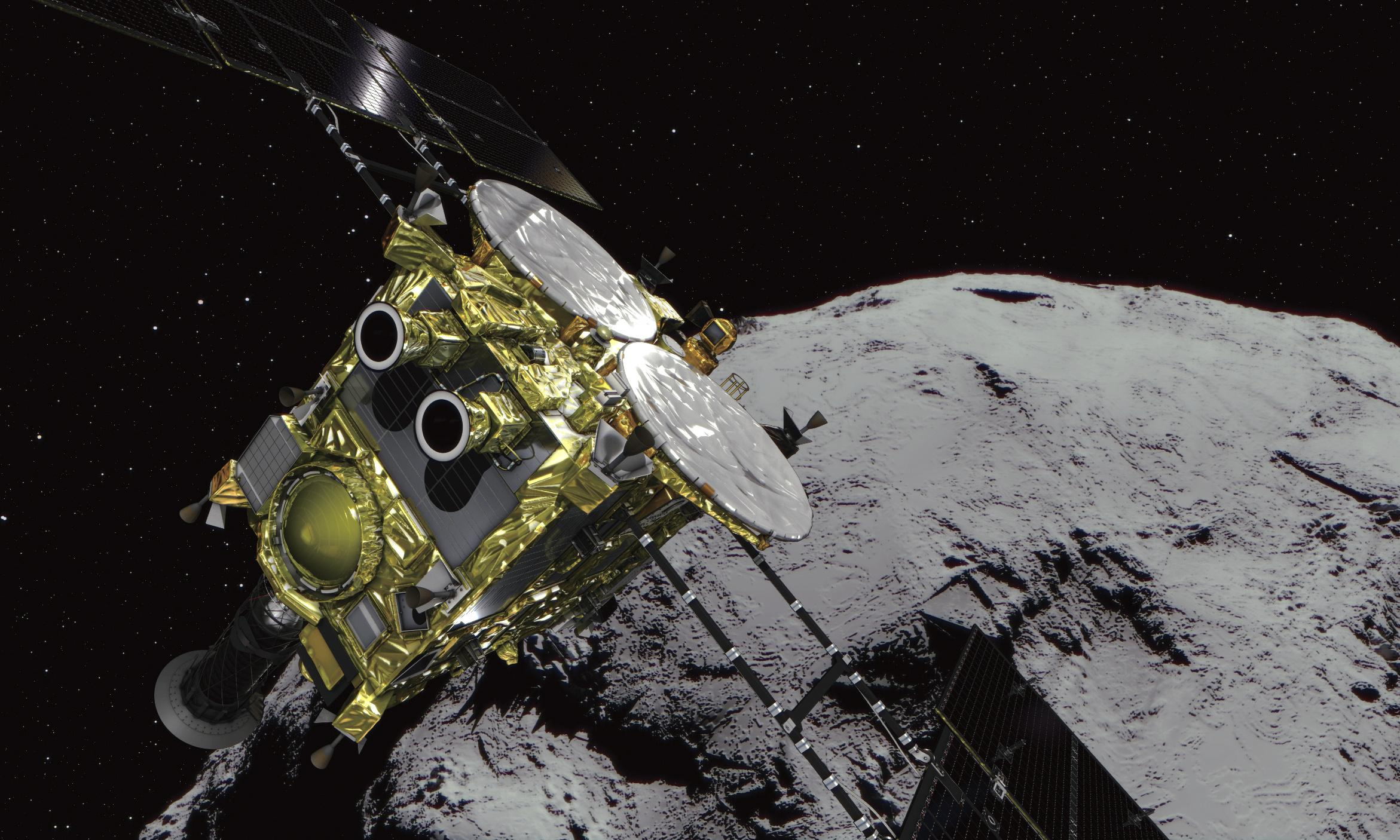 Falcon has landed: Japan's Hayabusa2 probe touches down on asteroid