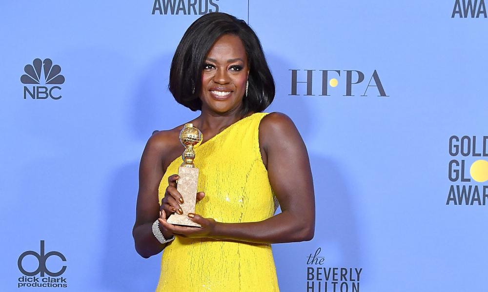 Viola Davis shines at the Golden Globe awards.