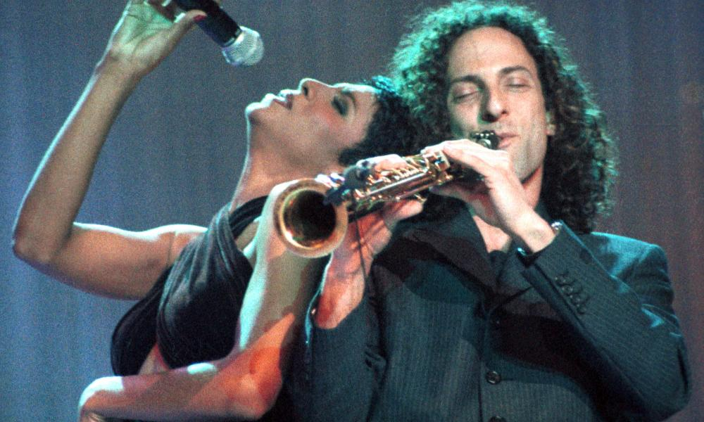 Sax appeal: Toni Braxton on tour with Kenny G in 1996.
