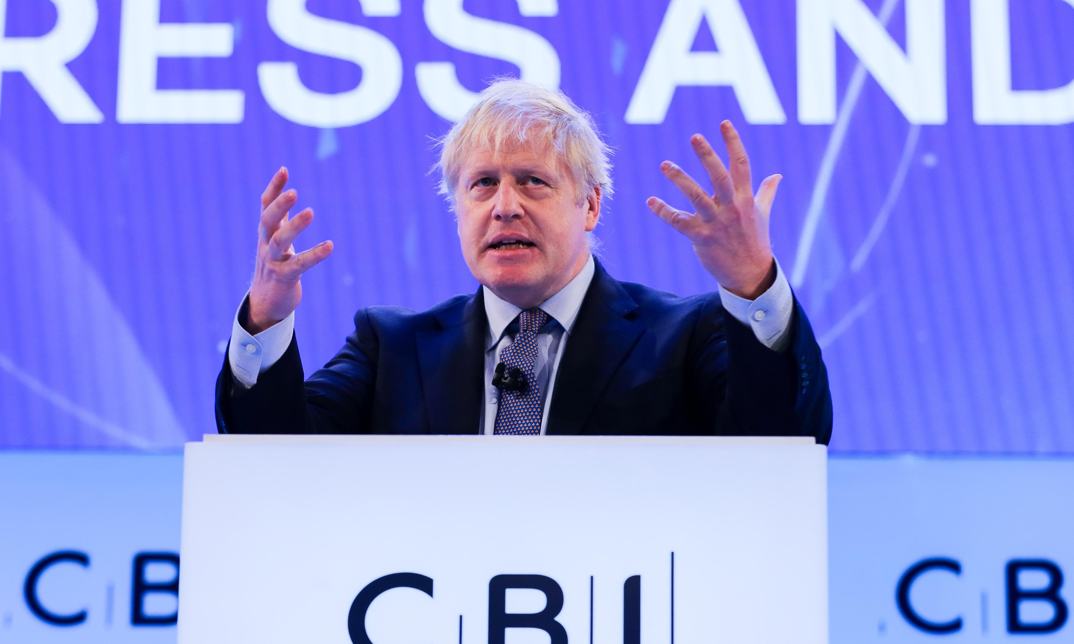 Boris Johnson gets down to the business of getting business down