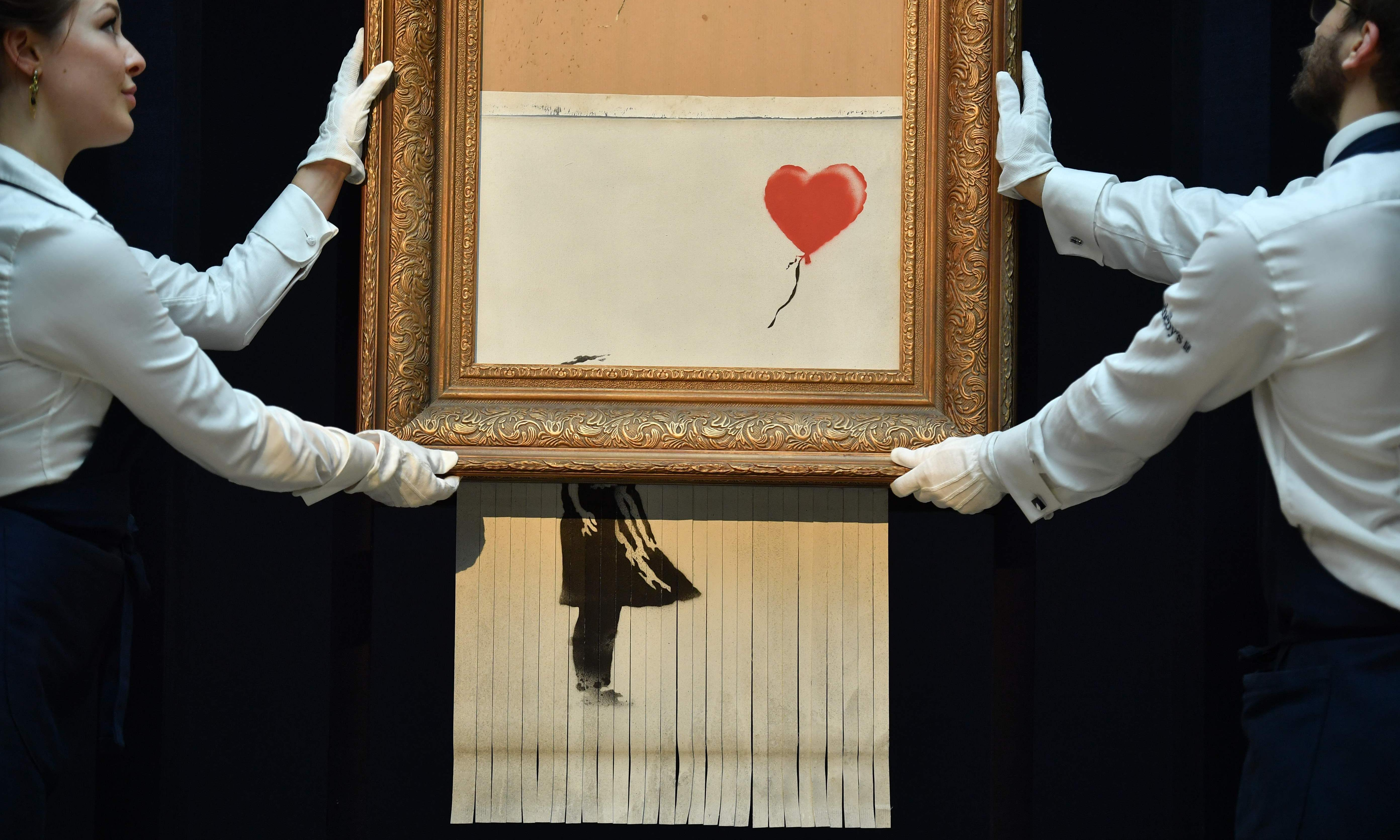 Shredded Banksy: was Sotheby's in on the act?