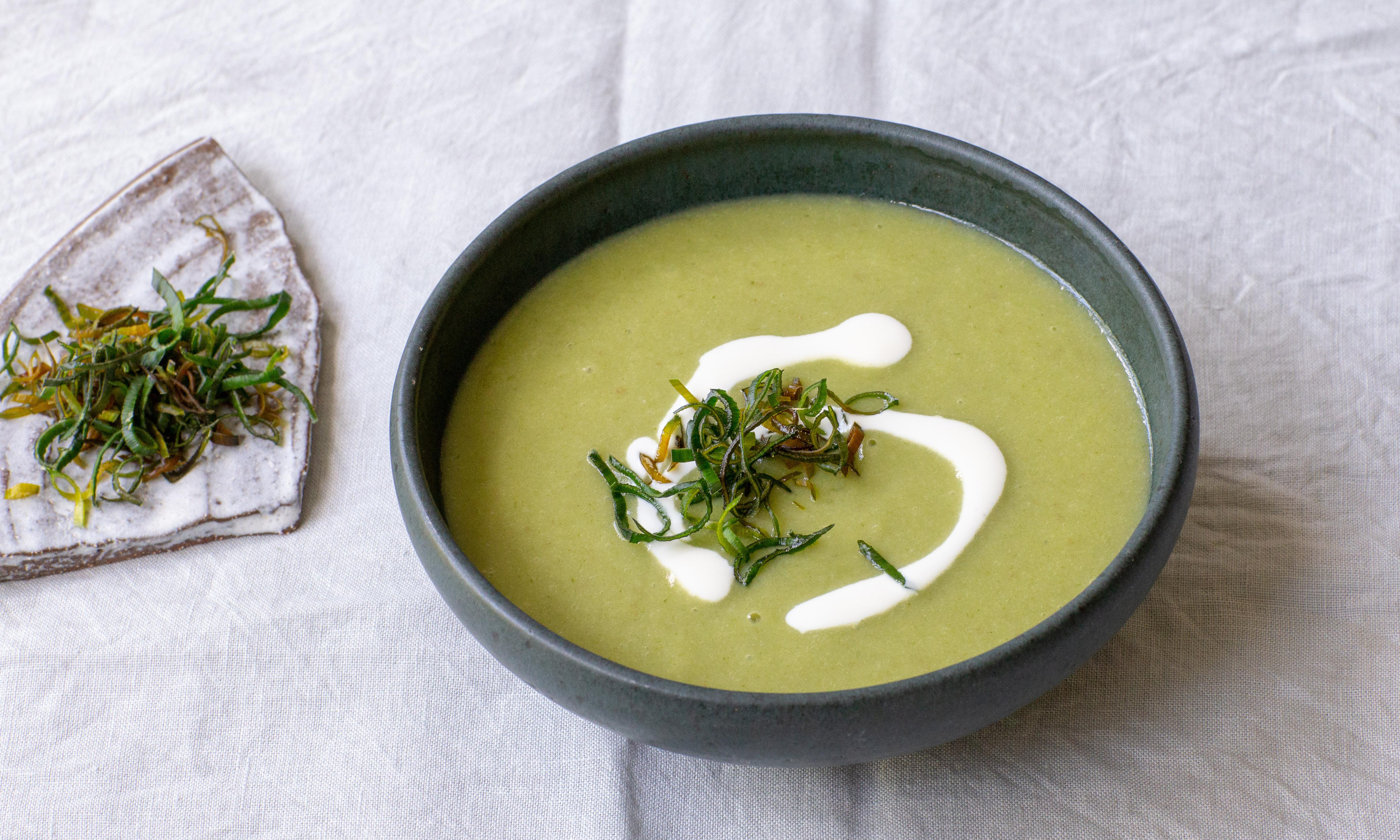 Go green: don't let the tastiest part of a leek go to waste