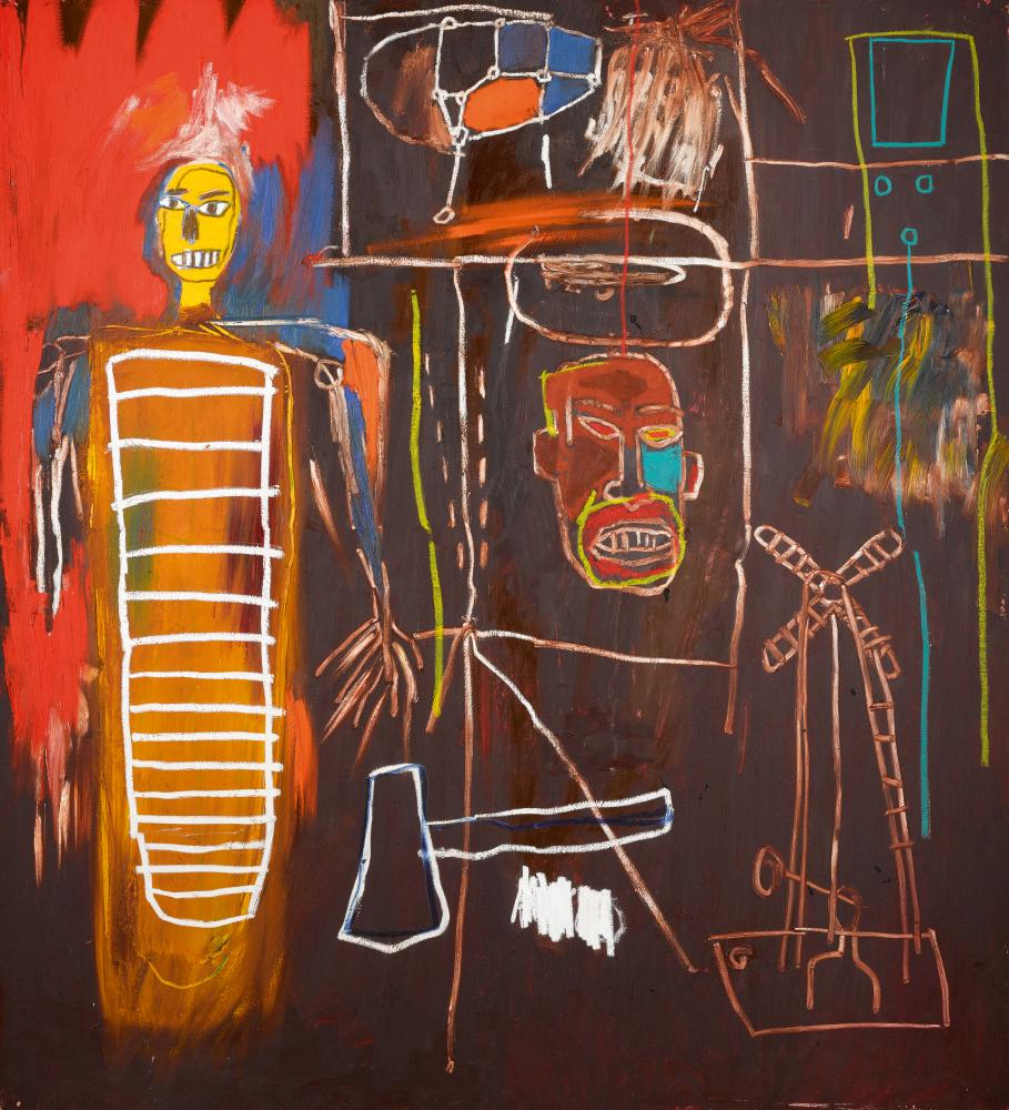 Basquiat, Air Power (1984), part of David Bowie's art collection