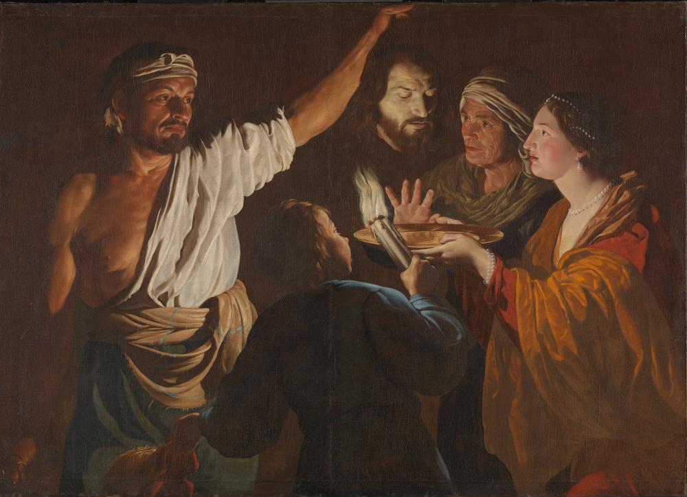 Salome rReceives the Head of John the Baptist, circa 1630-32, by Matthias Stom