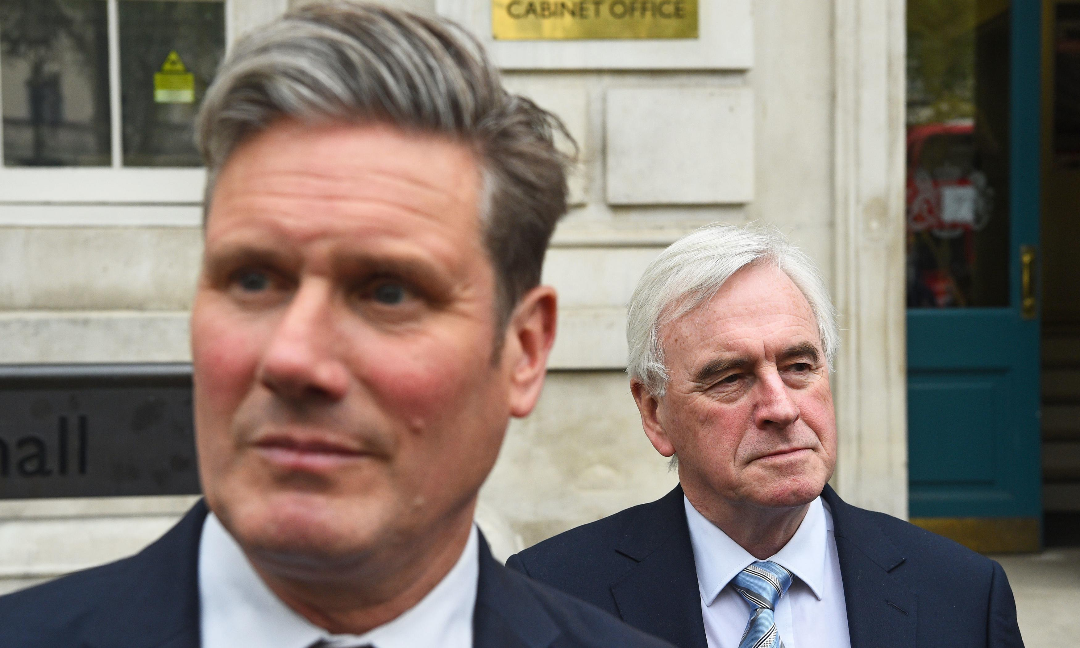 McDonnell and Starmer show split on Labour's Brexit stance