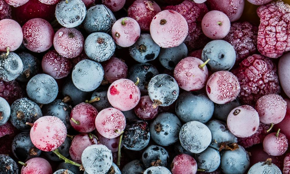 Don't freeze berries in blocks or they will go soggy when defrosted.