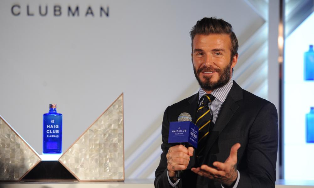 David Beckham uses his cachet to sell whisky to the Chinese