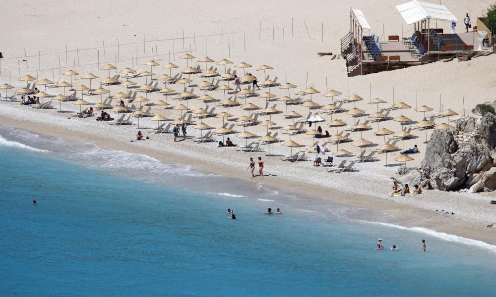 Oludeniz Beach in the Fethiye district of Mugla, Turkey