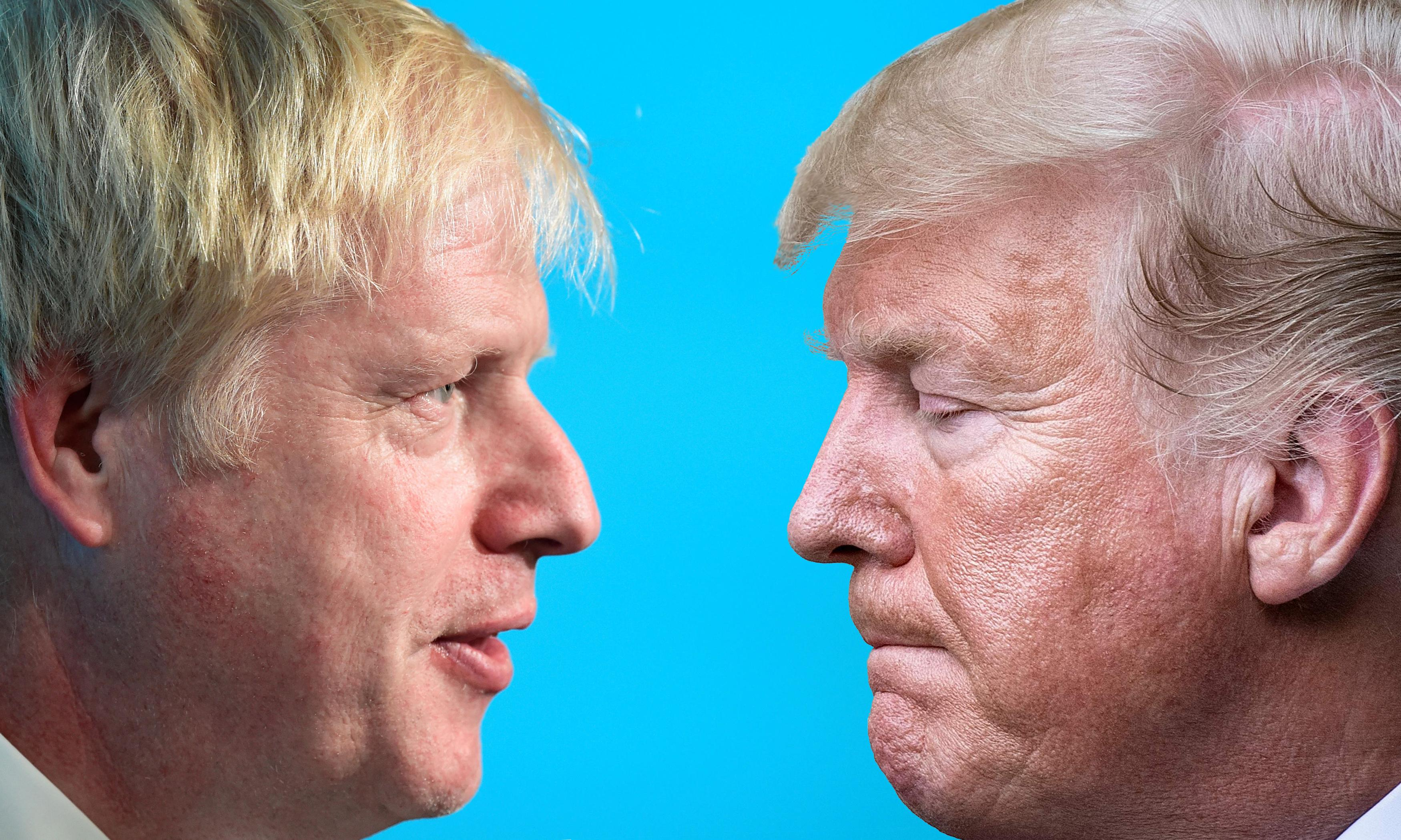 The week Trump said jump – and Johnson asked 'How high?'