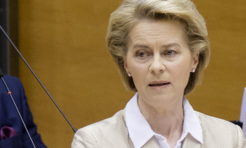Ursula von der Leyen, president of the European Commission, speaking in the European parliament on Thursday