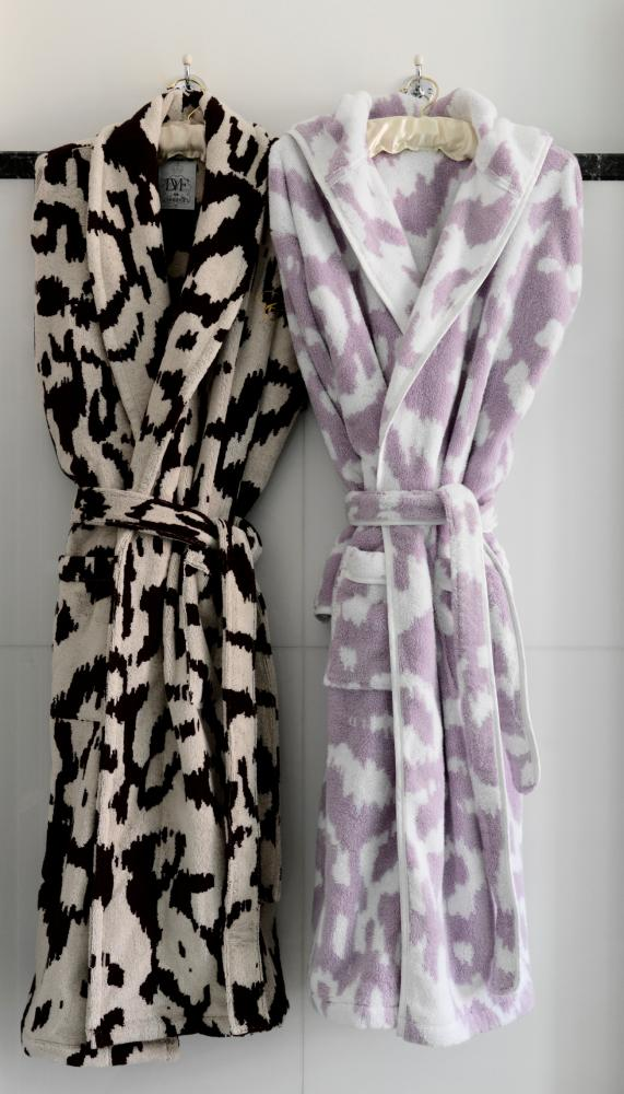 Diane von Furstenberg robes at Claridge's.