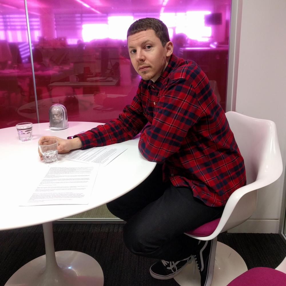 Professor Green is in the Guardian house.
