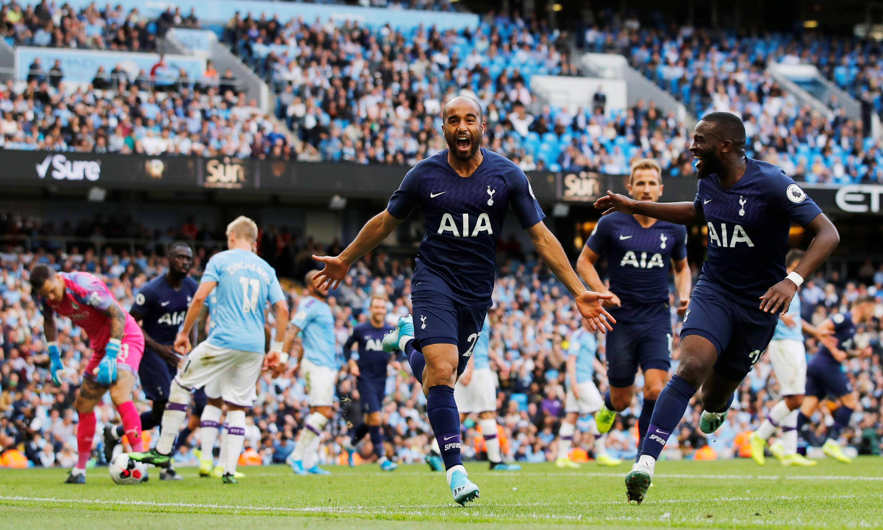 Lucas Moura earns Spurs draw at Manchester City as VAR history repeats