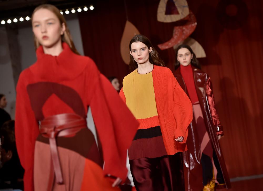 Roksanda's 'warrior women' at London fashion week.