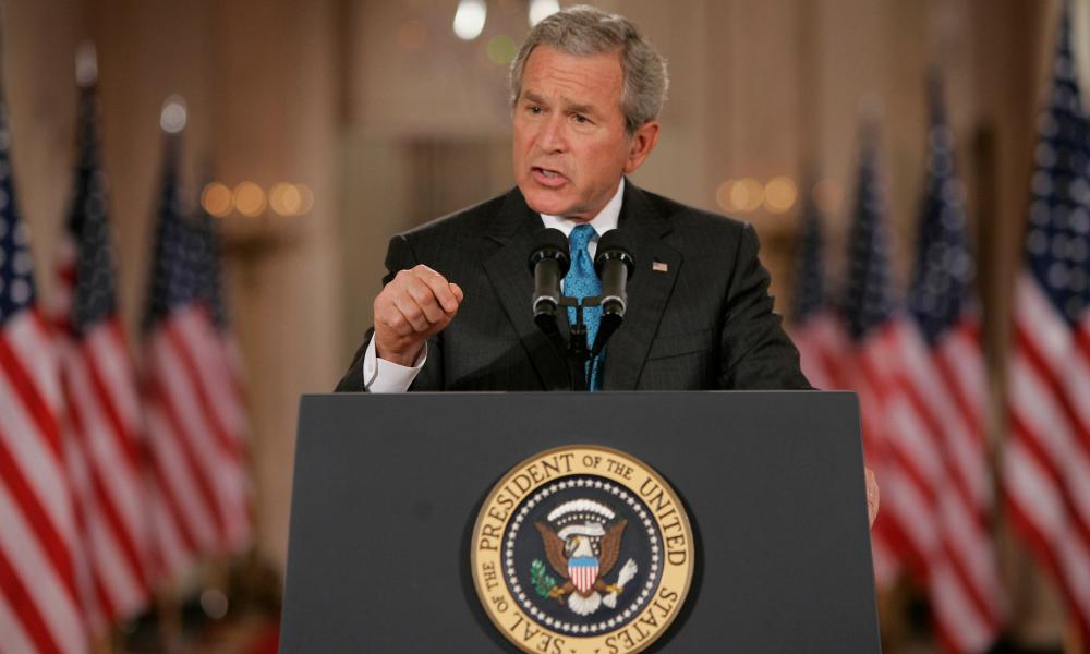 George W Bush acknowledges the existence of the CIA black site prisons as he announces the transfer to Guantánamo Bay of 14 'high value' detainees on 6 September 2006.