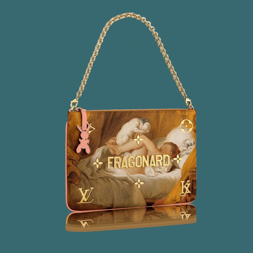 Frills, foliage and flesh … Jean-Honoré Fragonard's work adorns a Vuitton bag designed by Jeff Koons.
