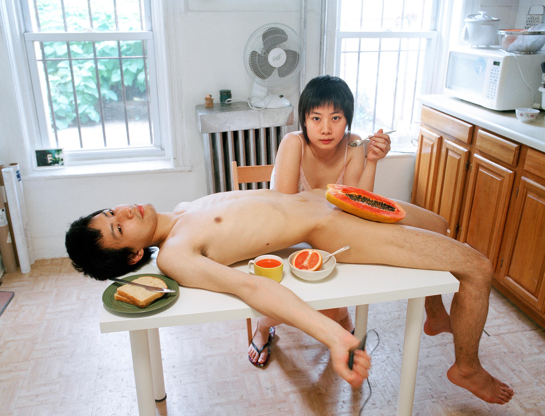 Pixy Liao's best photograph: eating a papaya off my boyfriend's crotch