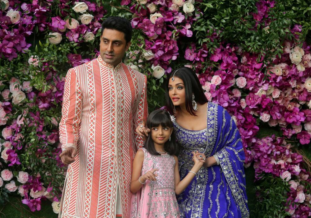 Abhishek Bachchan, his wife actress Aishwarya Rai and their daughter Aaradhya.