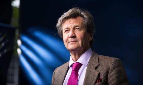 Writer and broadcaster Melvyn Bragg seen before speaking at the Edinburgh International Book Festival, Edinburgh, Scotland. UK 28/08/2010