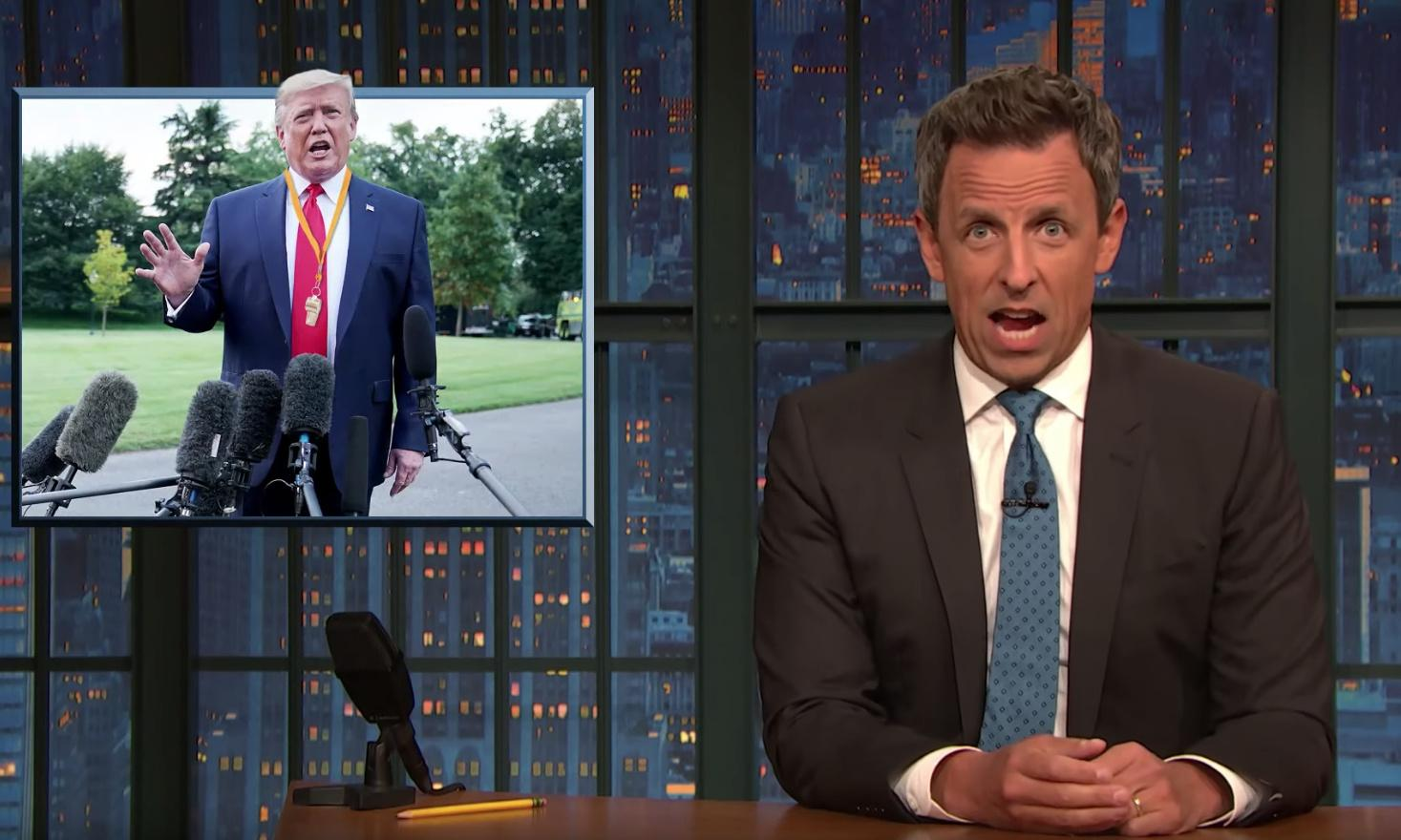 Seth Meyers on Trump: 'He basically just blew the whistle on himself'